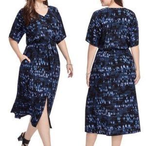 Melissa McCarthy Seven7 Blue Maxi Dress
